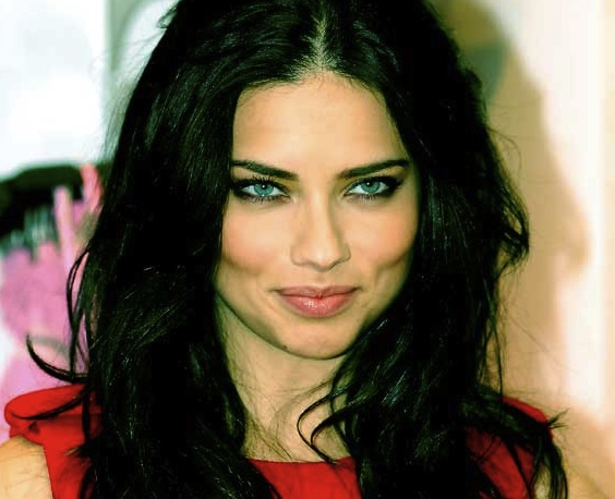 Beautiful Brazilian woman, model Adriana Lima