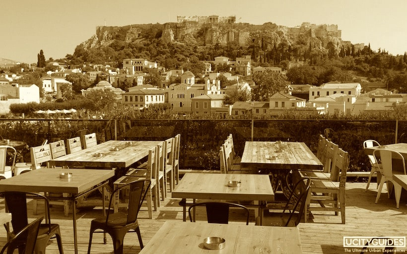 Rooftop bar, Athens